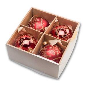 Koule vánoční 8 cm - tradiční set - 18000397